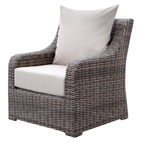 Wicker Deep Seating Patio Furniture.Cherry Hill 1pc Resin Wicker Deep Seating Chair With Sunbrella Fabric Cast Ash Ae Outdoor
