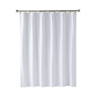 Large Basketweave Shower Curtain White - Saturday Knight Ltd.