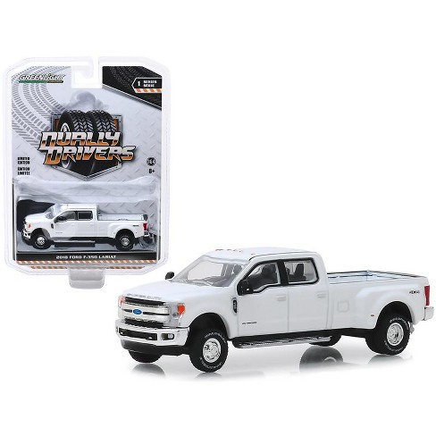 """2018 Ford F-350 Lariat Pickup Truck Oxford White """"Dually Drivers"""" Series 1 1/64 Diecast Model Car by Greenlight - image 1 of 1"""