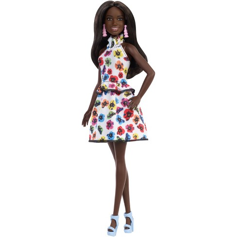 Barbie Fashionistas Doll 106 - Brunette Hair with White Floral Outfit - image 1 of 8