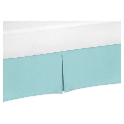 Turquoise Bed Skirt - Sweet Jojo Designs - image 1 of 2