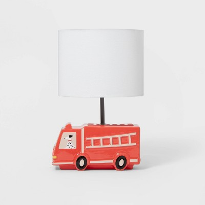 Fire Truck Figural Lamp Red - Pillowfort™