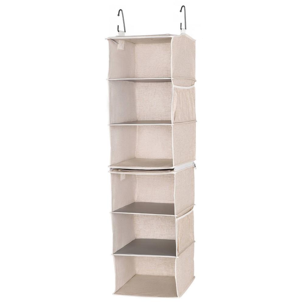 Storageworks Set Of 2 Three Shelf Hanging Closet Organizer Beige