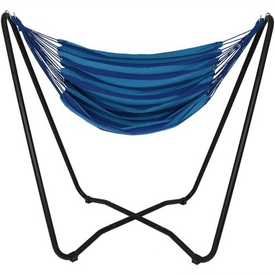 Hammock Chair Swing and Stand Set - Beach Oasis - Sunnydaze Decor