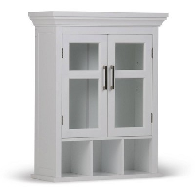 Hayes Two Door Wall Bath Cabinet with Cubbies White - WyndenHall