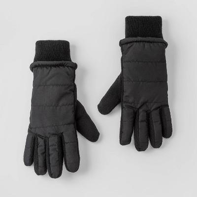 Boys' Quilted Gloves - Cat & Jack™ Black