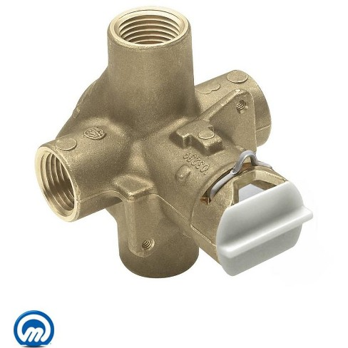 """Moen FP62300 1/2"""" IPS Posi-Temp Pressure Balancing Rough-In Valve and Pre-Installed Flush Plug (No Stops) - image 1 of 2"""