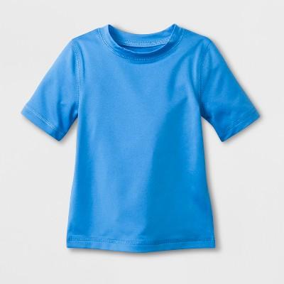 Baby Boys' Short Sleeve Solid Rash Guard - Cat & Jack™ Blue 12M