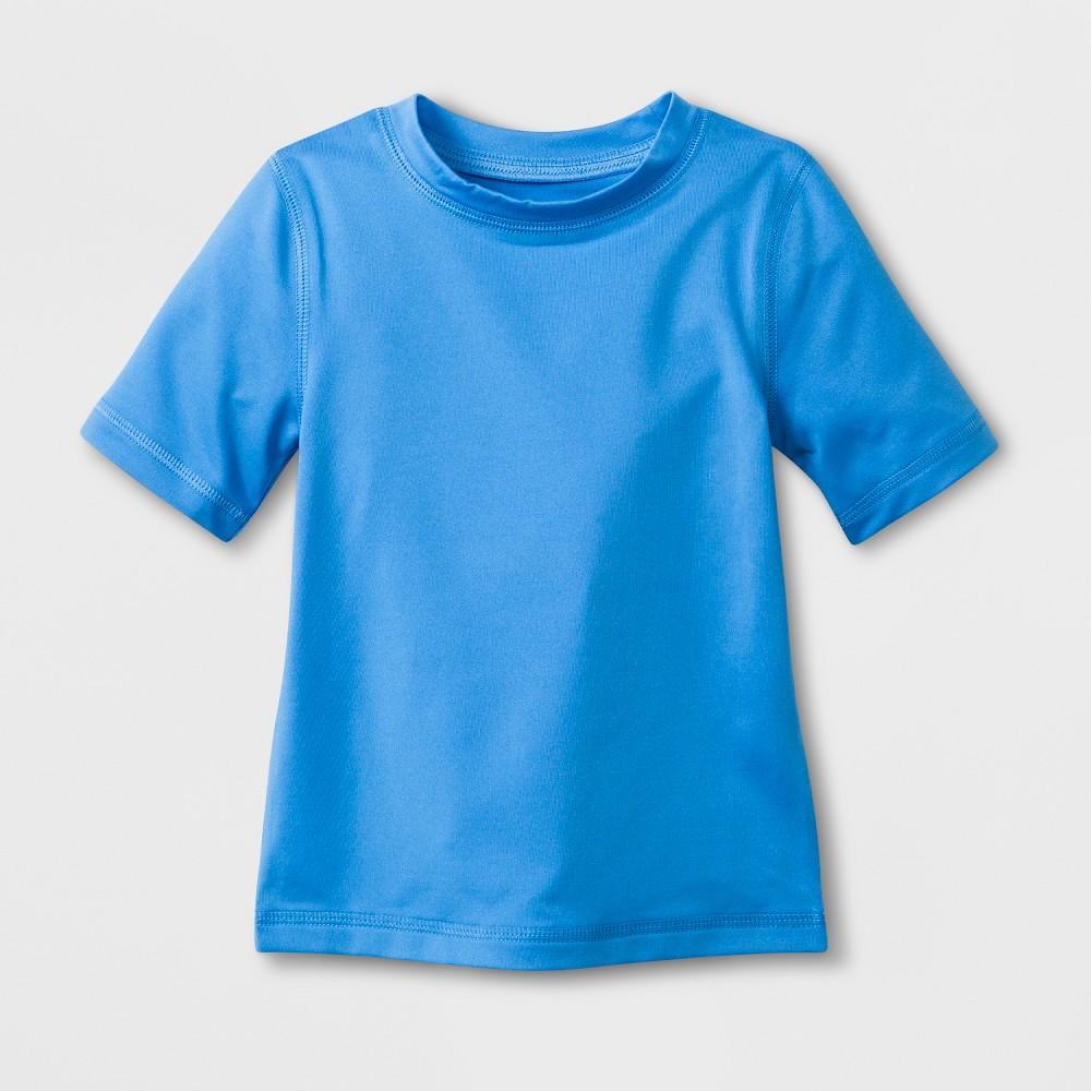 Baby Boys' Short Sleeve Solid Rash Guard - Cat & Jack Blue 18M
