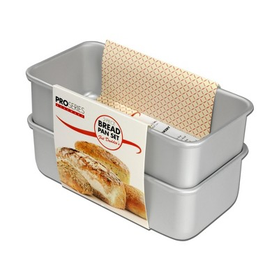 Fat Daddio's BP-SET Anodized Aluminum Bread Pan 2 Piece Set, 7.75 x 3.75 Inches