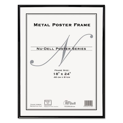 Nudell Metal Poster Frame Plastic Face 18 x 24 Black 31222