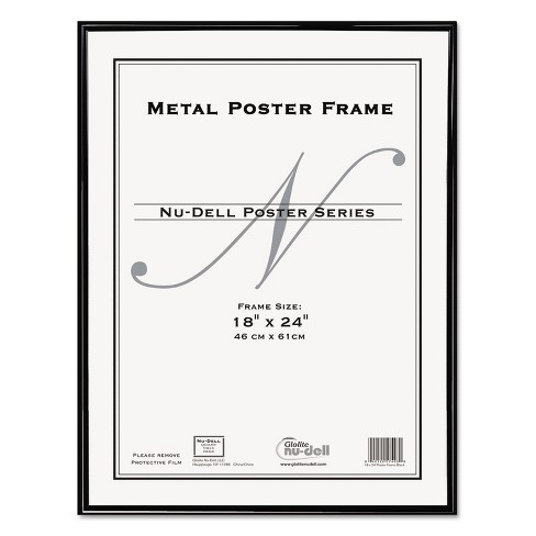 Nudell Metal Poster Frame Plastic Face 18 x 24 Black 31222 - image 1 of 4