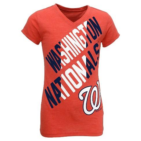 1e57ea0c0d5 Washington Nationals Youth Tri-blend V-Neck T-Shirt XL   Target