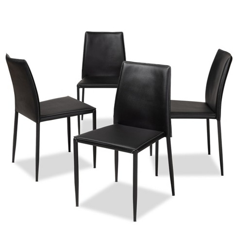 Pascha Modern and Contemporary Faux Leather Upholstered Dining Chairs Set of 4 - Baxton Studio - image 1 of 4