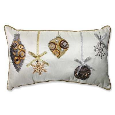 "11.5""x18.5"" Embroidered Ornaments Lumbar Throw Pillow - Pillow Perfect"