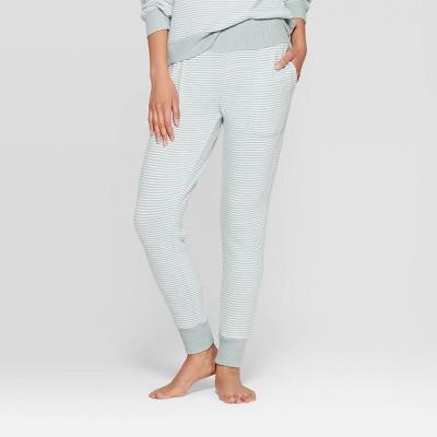 Women's Striped Perfectly Cozy Postpartum Pajama Jogger - Stars Above™ Mint M