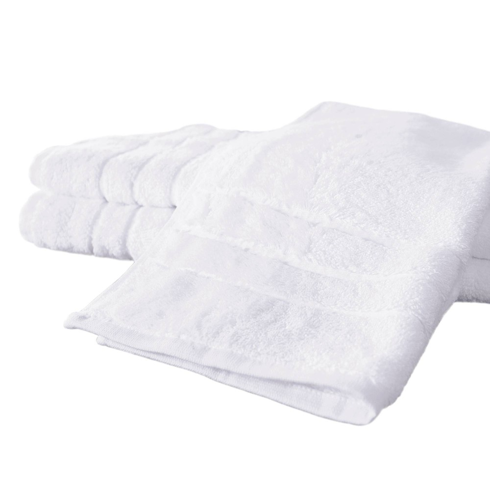 Image of 3pc Rayon from Bamboo Hand Towel Set White - Cariloha
