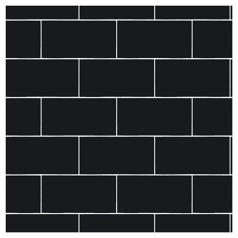 devine color textured subway tile peel stick wallpaper black target
