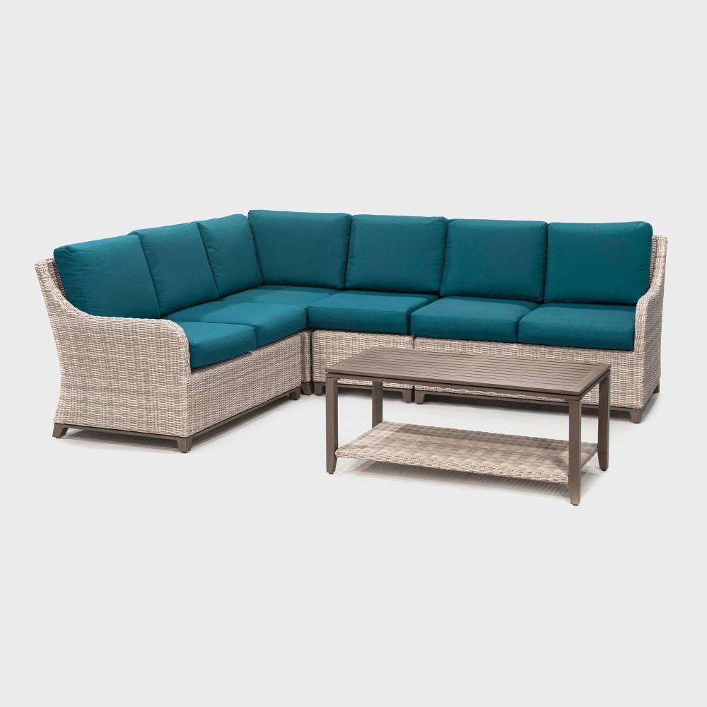 Hampton 5pc Patio Seating Set - Teal (Blue) - Leisure Made