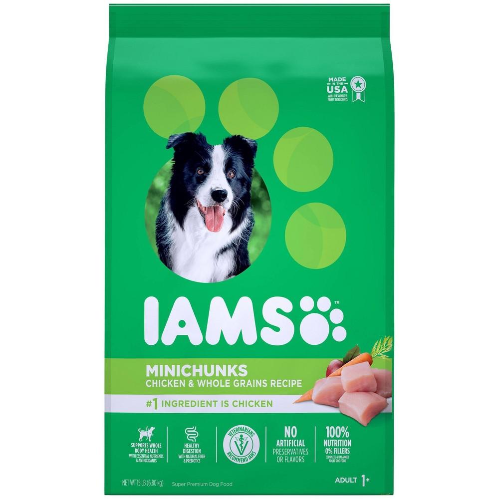 Iams Proactive Health Minichunks Chicken 38 Whole Grains Recipe Adult Premium Dry Dog Food 15lbs