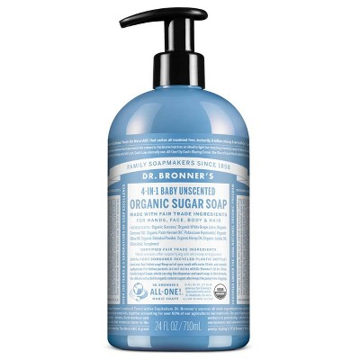 Dr. Bronner's Organic Baby Sugar Soap - Unscented - 24oz