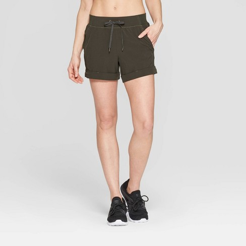 Women's Woven Mid-Rise Shorts - C9 Champion® - image 1 of 2