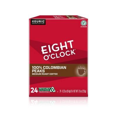 Eight O'Clock Columbian Medium Roast Coffee Pods - 24ct