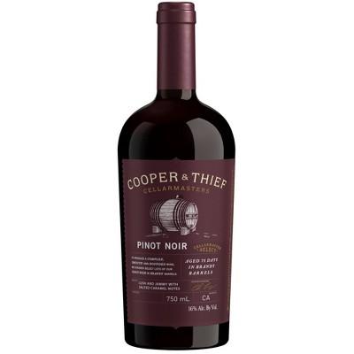 Cooper & Thief Brandy Barrel-Aged Pinot Noir Red Wine - 750ml Bottle