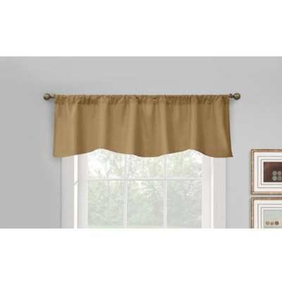 """Commonwealth Home Fashions Thermalogic Prescott Top Scalloped Tailored Valance With 3"""" Rod Pocket - 60x18"""""""