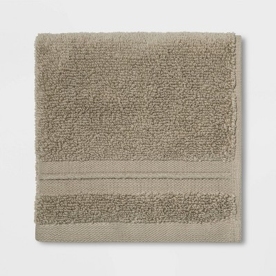 Spa Washcloth Taupe - Threshold Signature™