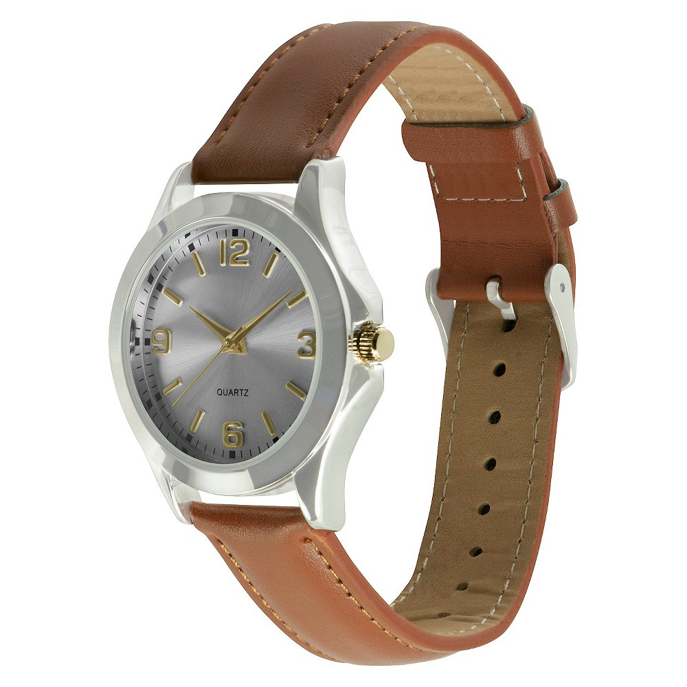 Men's Fossil Watch - Gold & Silver Face, Brown