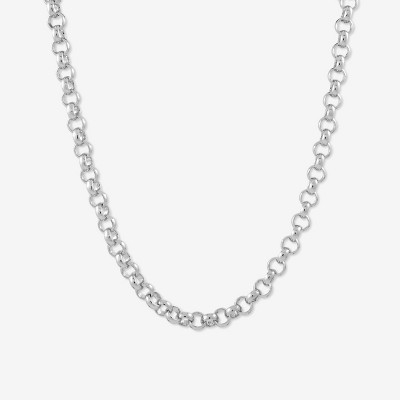 Sanctuary Project Round Chain Link Necklace Silver