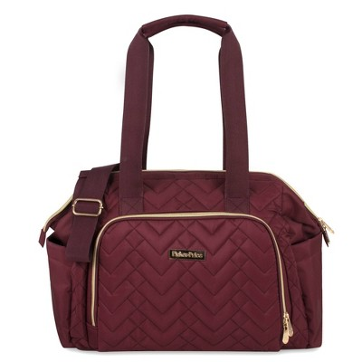 Fisher-Price Quilted Harper Frame Bag - Burgundy