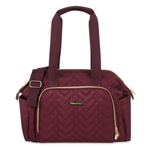 Fisher-Price Quilted Harper Frame Bag - Burgundy - image 1 of 4