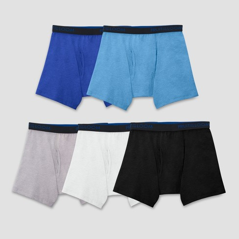 Fruit Of The Loom® Boys' 5pk Breathable Cotton-Mesh Boxer Briefs - image 1 of 4