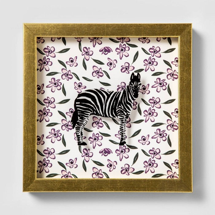 "7.75""x9"" Zebra Shadowbox Framed Wall Poster Print - Opalhouse™ - image 1 of 4"