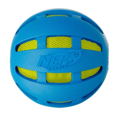 NERF Nerf Checker Crunch Ball Dog Toy - Blue/Green - L