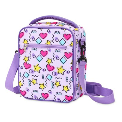 Zodaca Insulated Lunch Bag for Girls and Kids (Light Purple, 8 x 10 x 4 In)