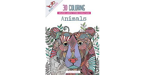 3D Coloring Animals Adult Coloring Book - image 1 of 1