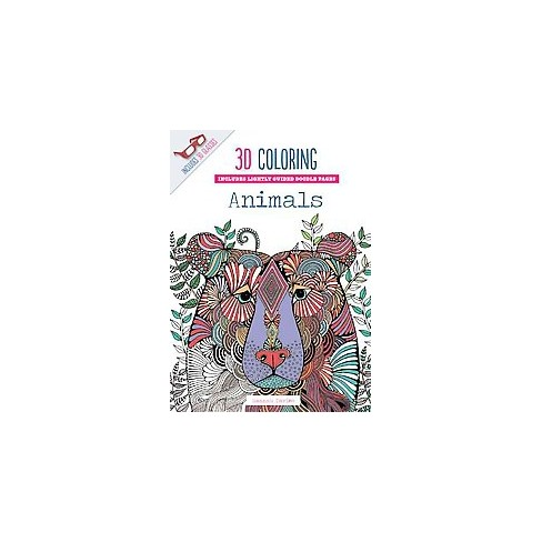 3D Coloring Animals Adult Coloring Book : Target
