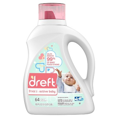 Dreft Stage 2: Active Baby Liquid Laundry Detergent - 100 fl oz