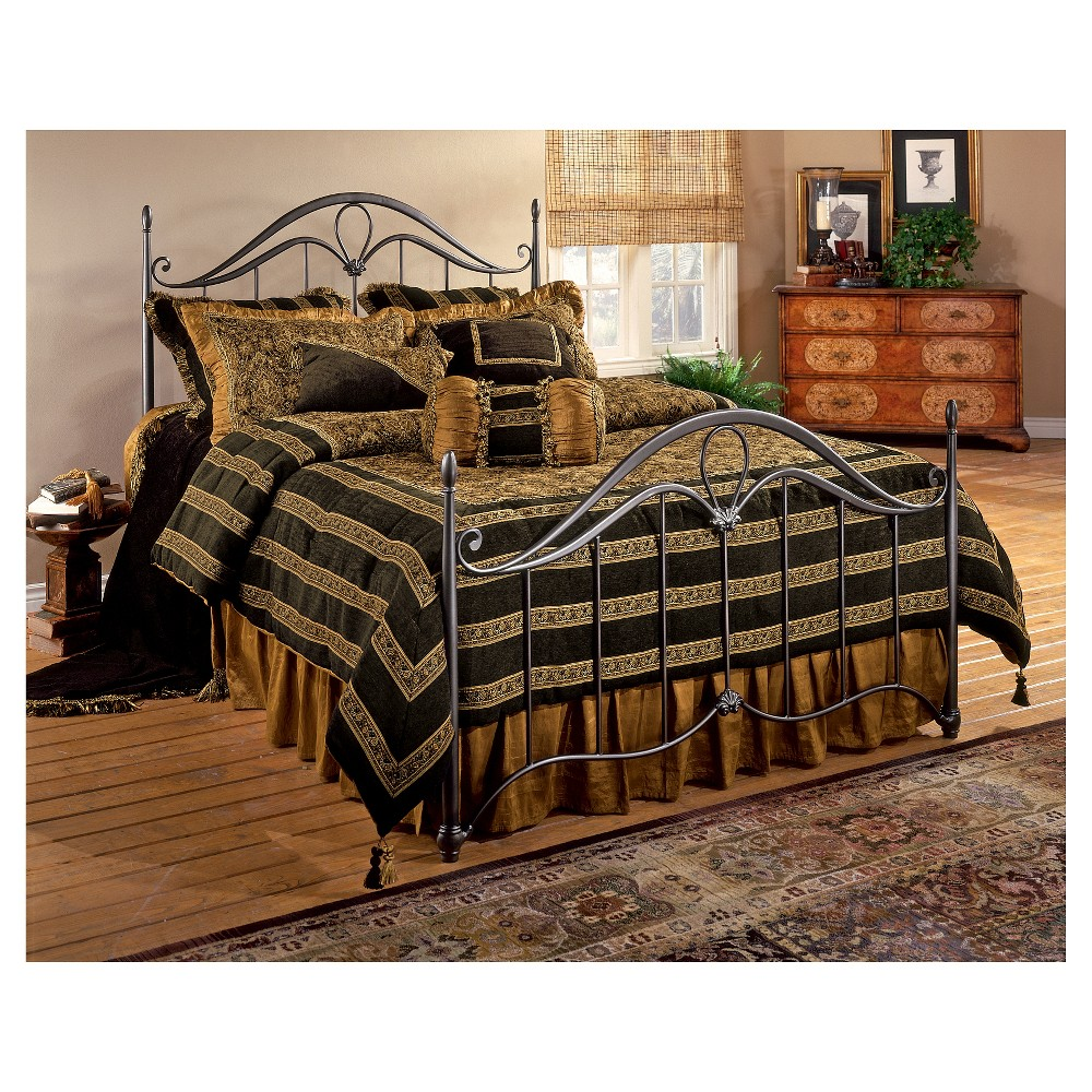 Kendall Bed - Full - with Rails - Bronze - Hillsdale Furniture