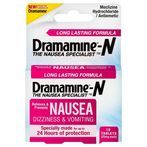 Dramamine-N Long Lasting Nausea, Dizziness & Vomiting Relief Tablets - 10ct - image 1 of 4