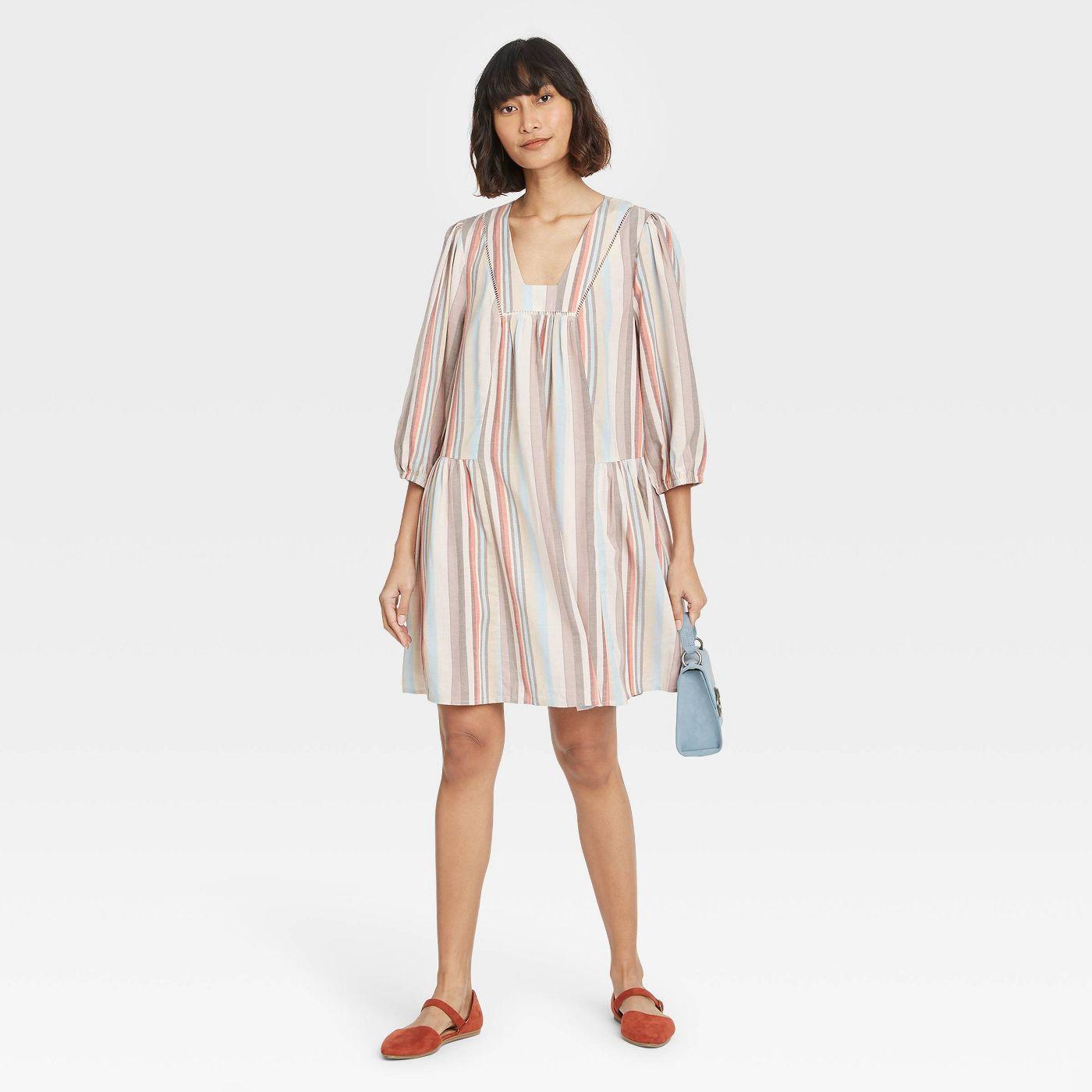 Women's Long Sleeve Shift Dress - Knox Rose™ - image 1 of 8