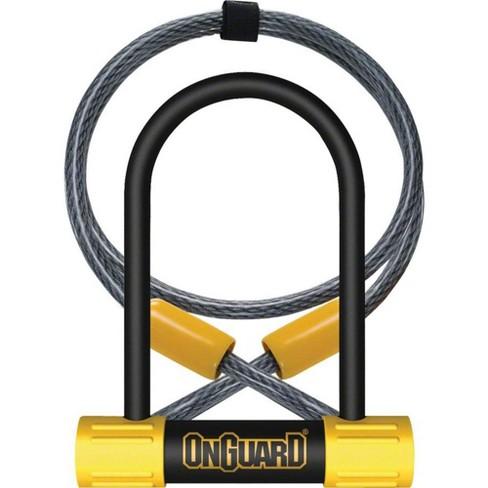 OnGuard BullDog Series U-Lock - 3.5 x 5.5 Keyed Black/Yellow Includes 4' cable - image 1 of 1