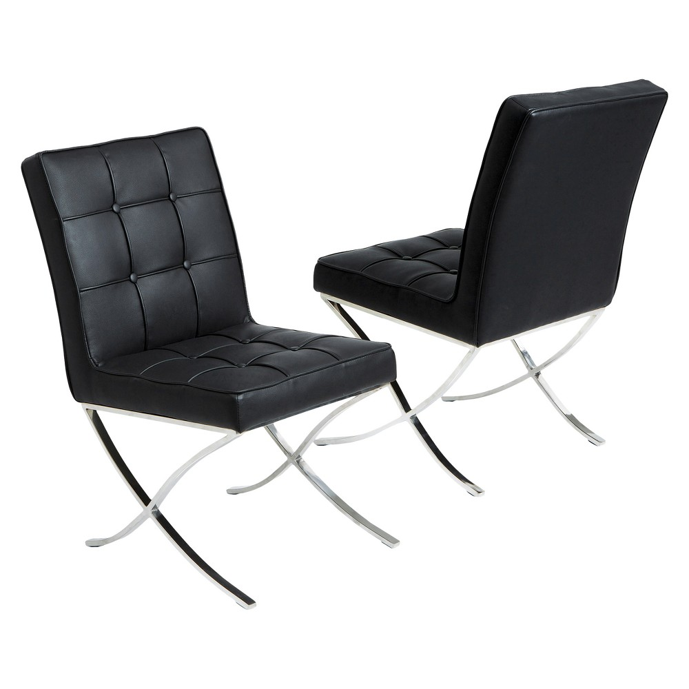 Milania Dining Chair Black (Set of 2) - Christopher Knight Home