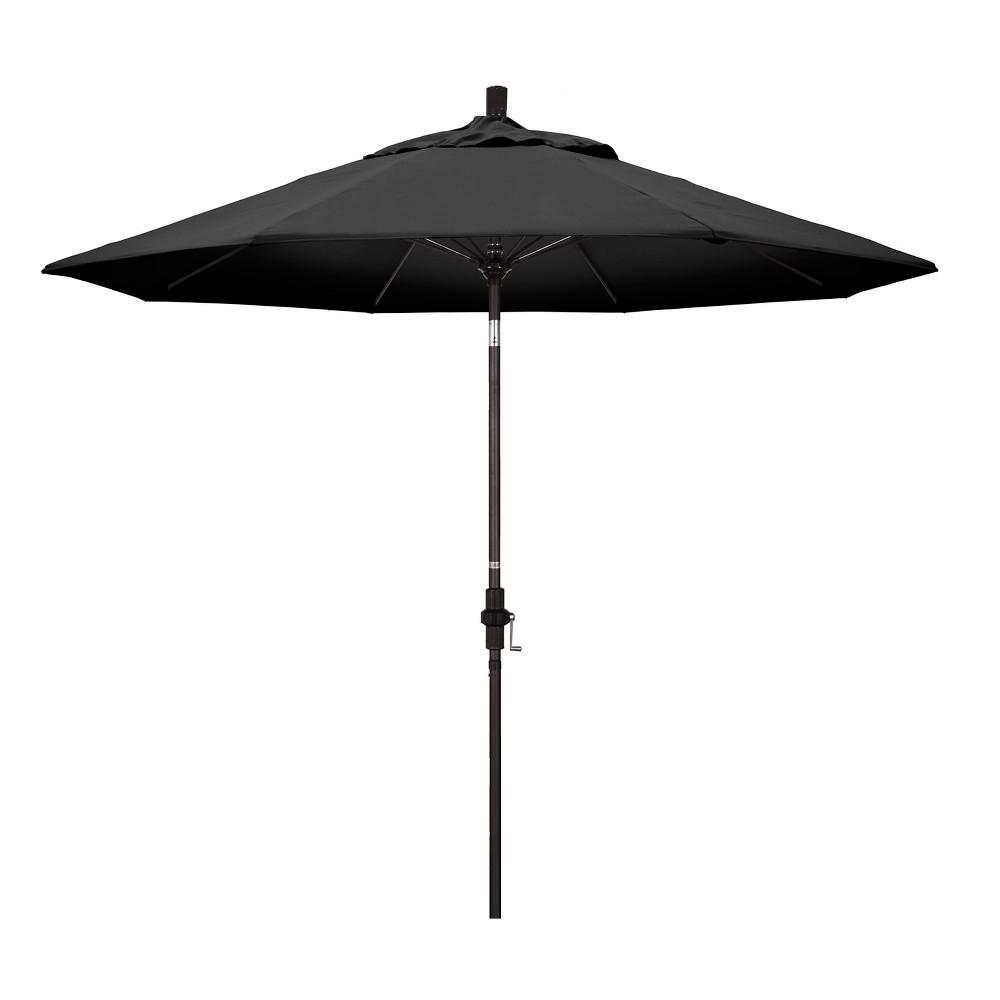 Image of 9' Aluminum Collar Tilt Patio Umbrella - Black