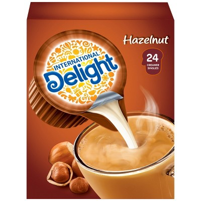 International Delight Hazelnut Singles Coffee Creamer - 24ct