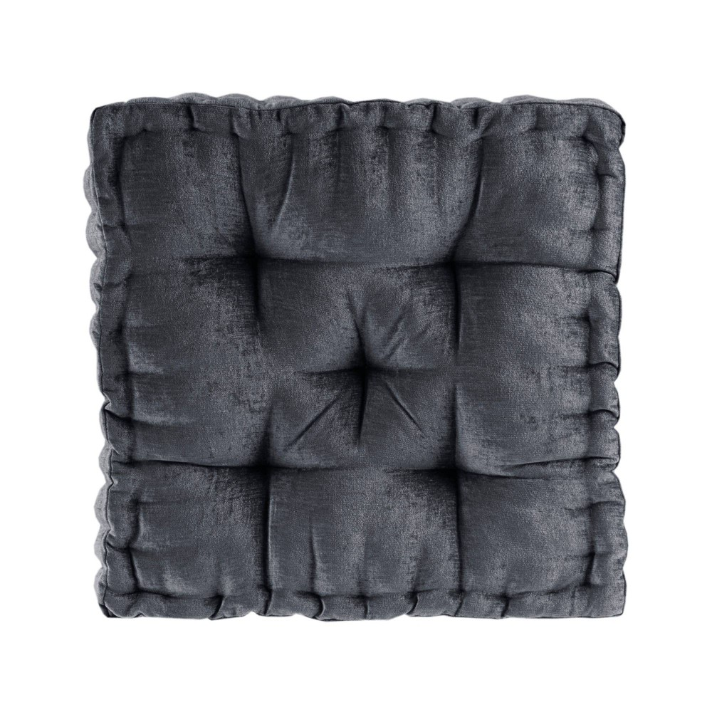 20 34 X20 34 Diah Poly Chenille Square Floor Pillow Cushion Charcoal