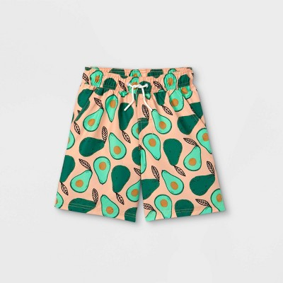 Boys' Avocado Print Swim Trunks - Cat & Jack™ Green